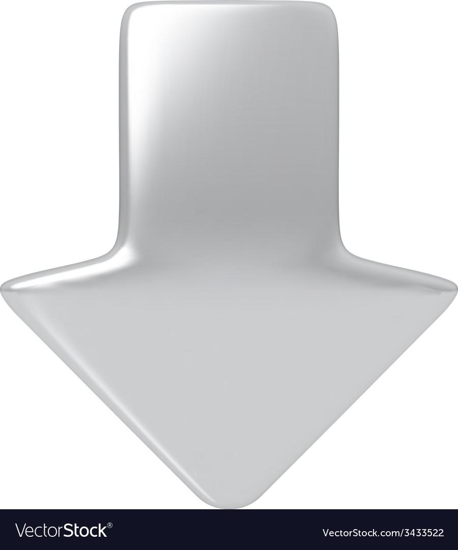 Silver arrow vector | Price: 1 Credit (USD $1)