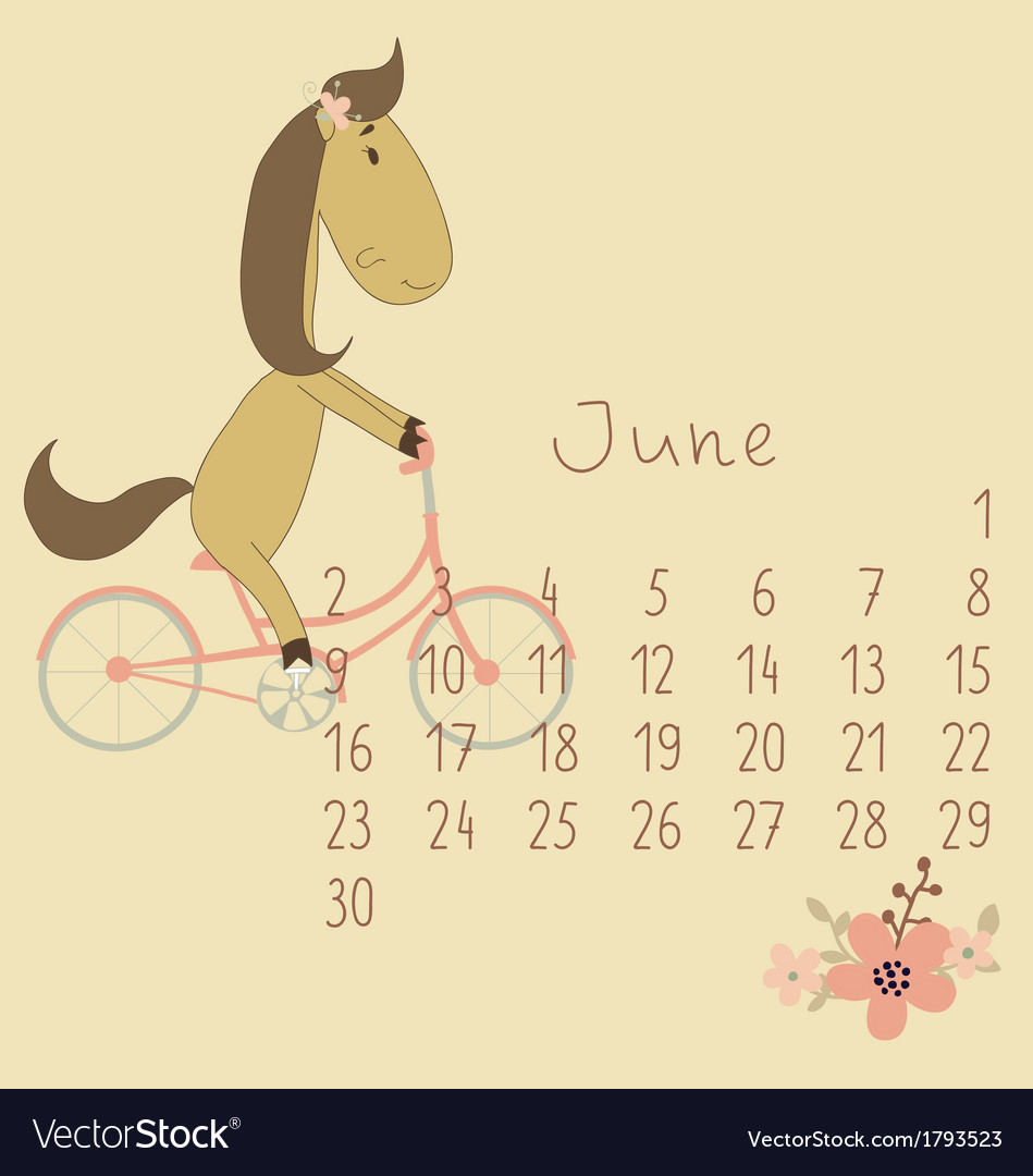 Calendar for june 2014 vector | Price: 1 Credit (USD $1)