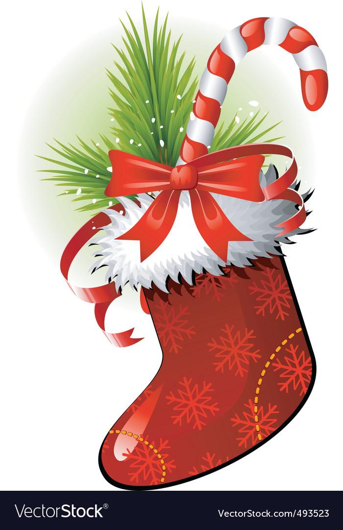 Christmas sock vector | Price: 1 Credit (USD $1)