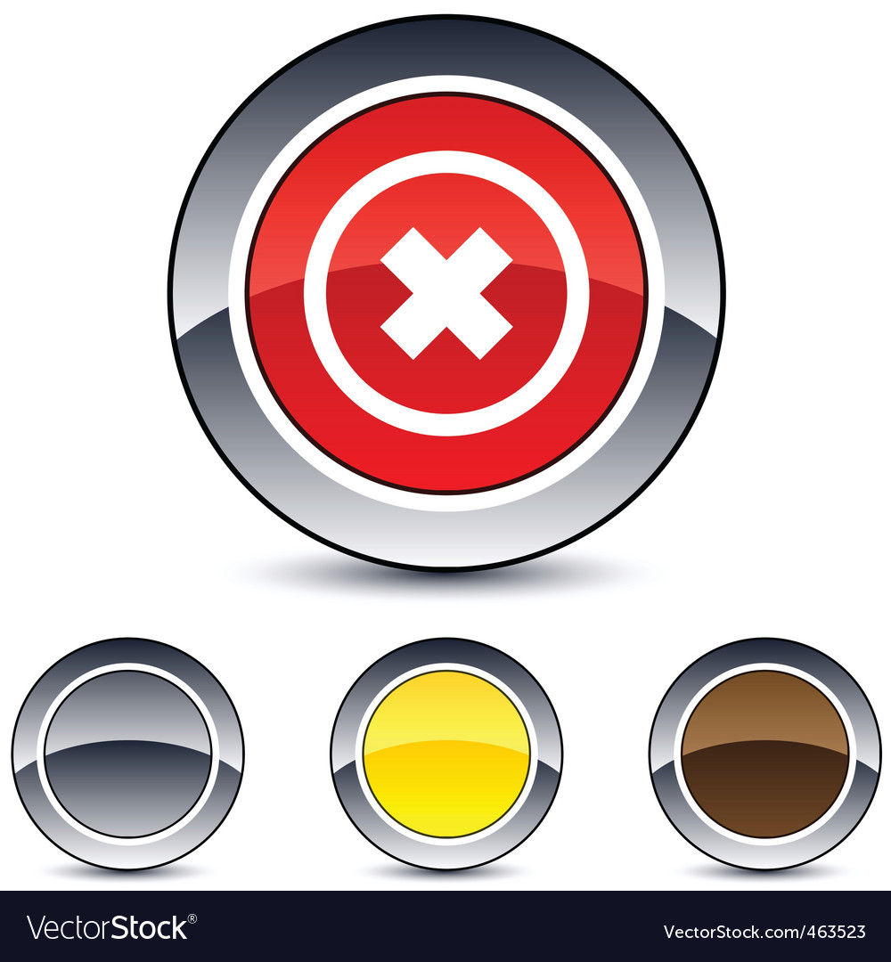 Delete cross round button vector | Price: 1 Credit (USD $1)