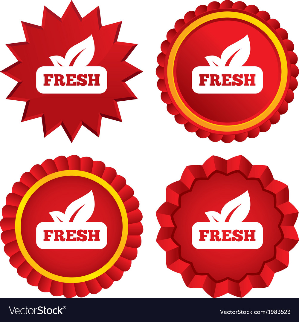 Fresh product sign icon leaf symbol vector   Price: 1 Credit (USD $1)