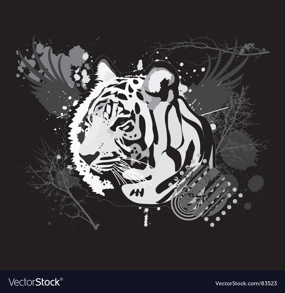 Grunge tiger vector | Price: 1 Credit (USD $1)