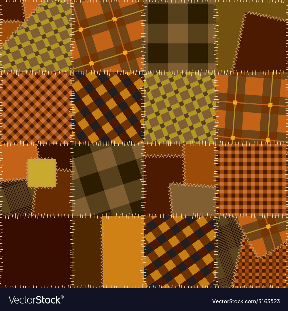 Imitation of quilting design vector | Price: 1 Credit (USD $1)