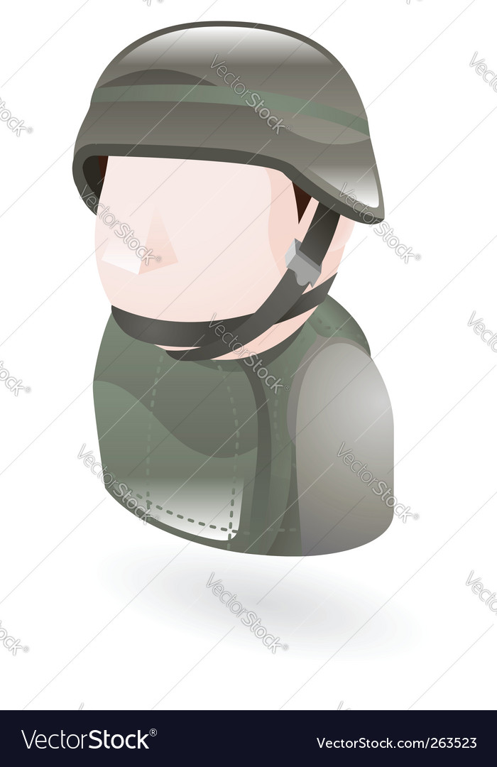 Modern soldier vector | Price: 1 Credit (USD $1)