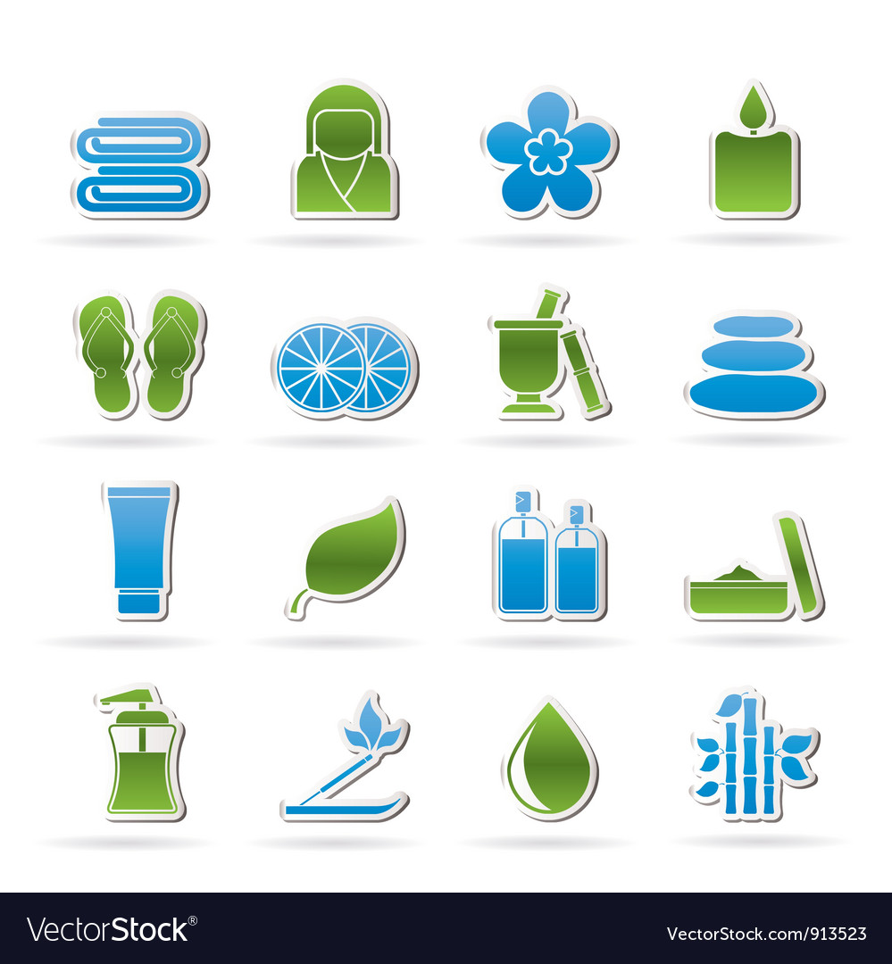 Spa objects icons vector   Price: 1 Credit (USD $1)