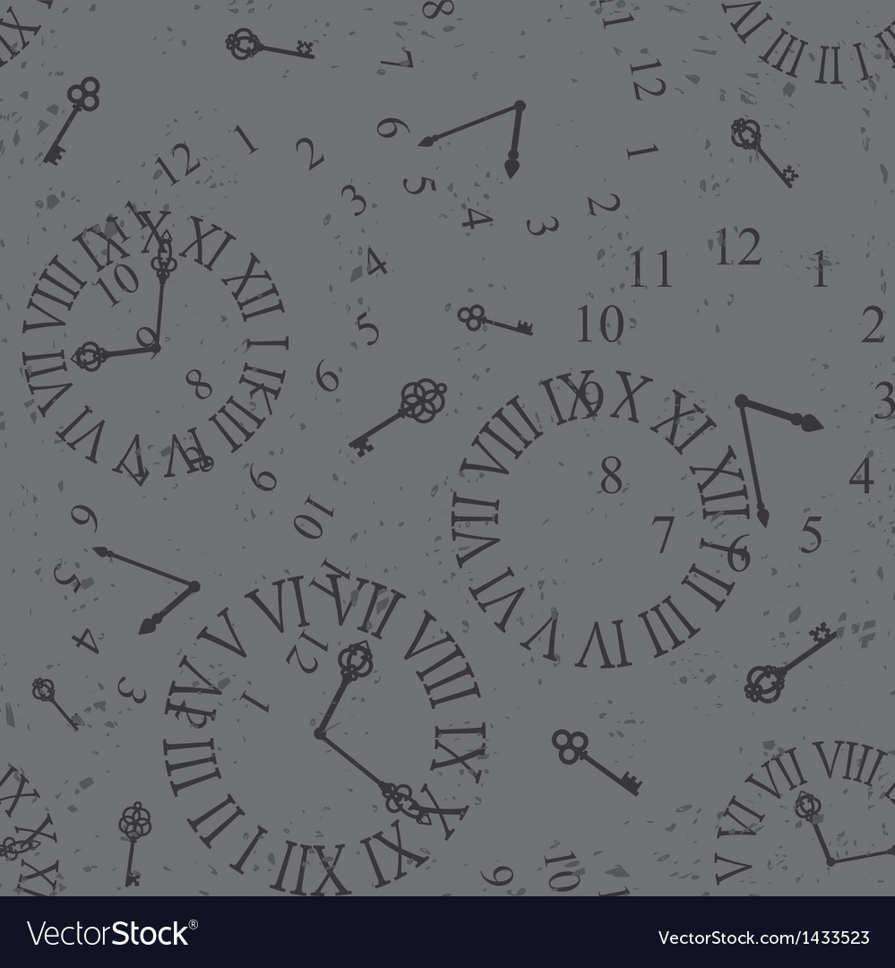 Vintage clock face vector | Price: 1 Credit (USD $1)