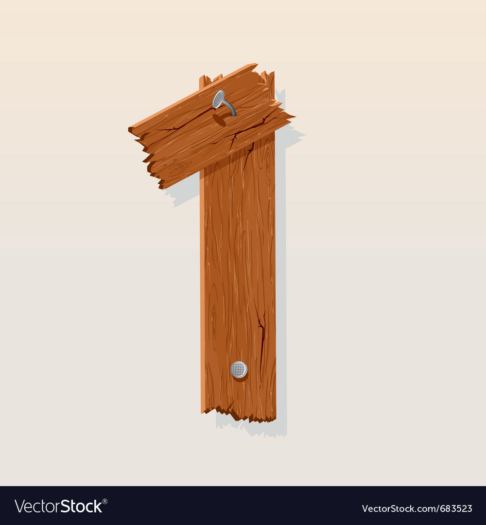 Wooden type 1 vector | Price: 1 Credit (USD $1)