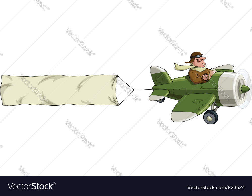 Airplane banner vector | Price: 3 Credit (USD $3)