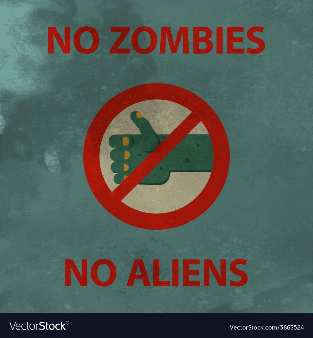 Anti zombie poster vector   Price: 1 Credit (USD $1)