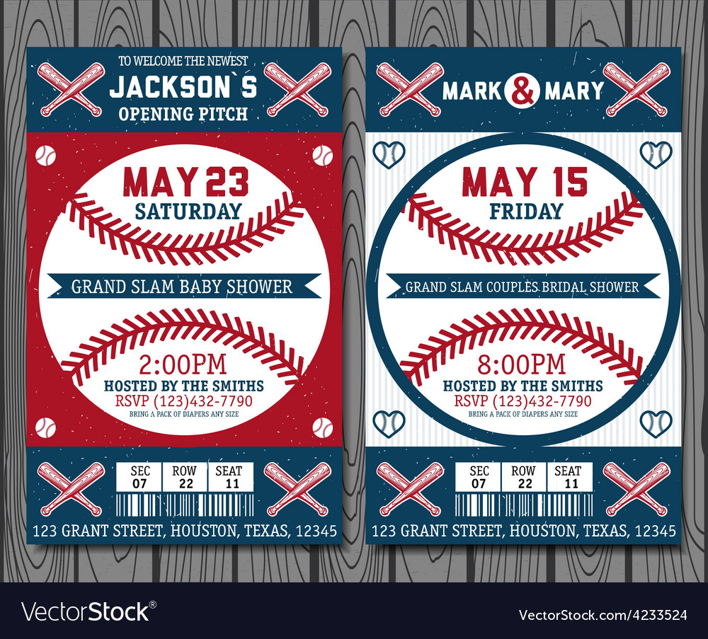 Baseball tickets vector | Price: 1 Credit (USD $1)
