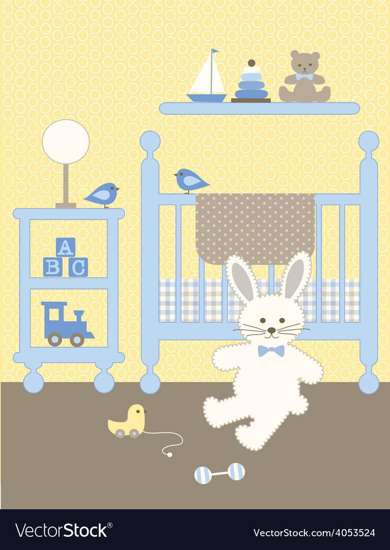 Bunny nursery vector | Price: 1 Credit (USD $1)