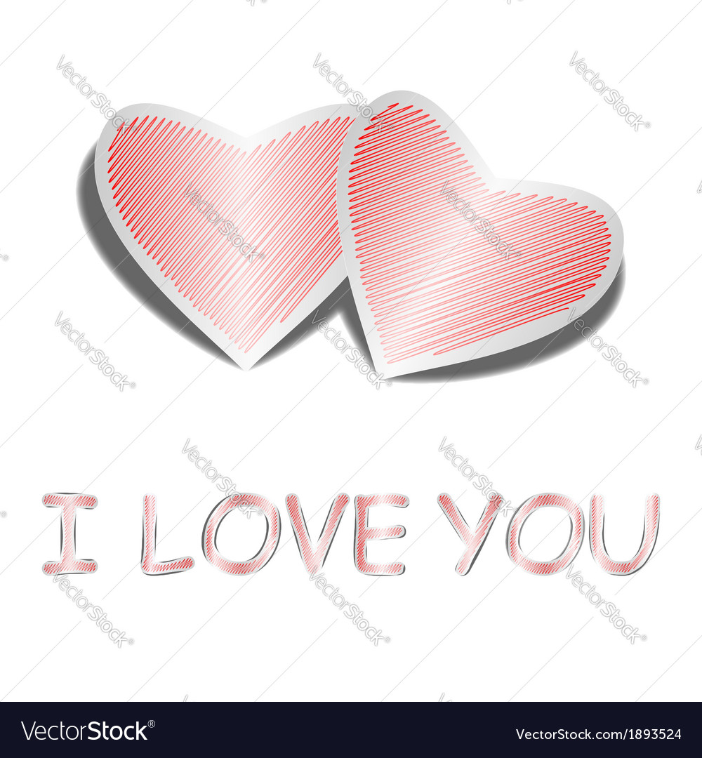 Design heart background with words i love you vector | Price: 1 Credit (USD $1)
