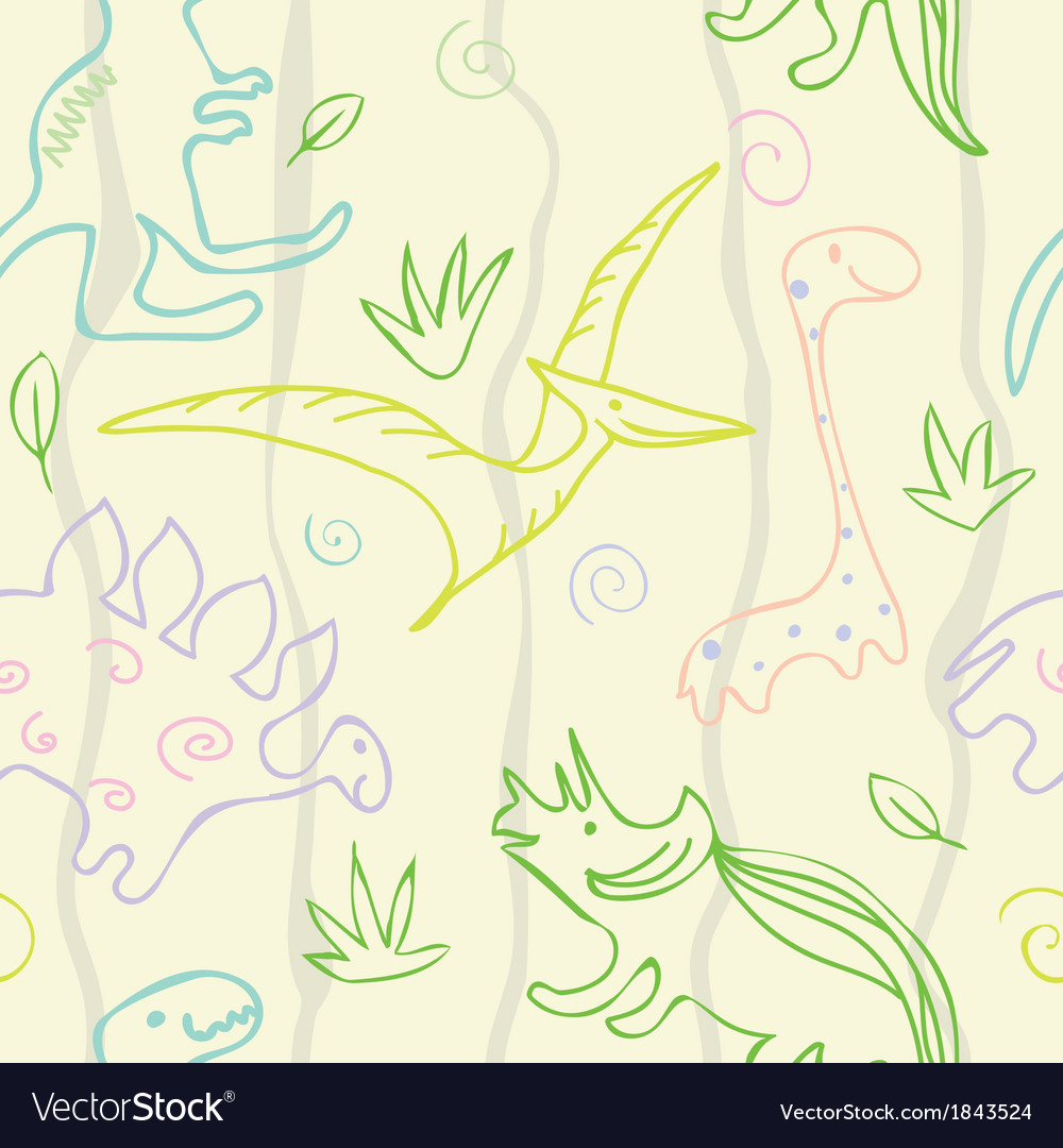 Dinosaur pattern vector | Price: 1 Credit (USD $1)