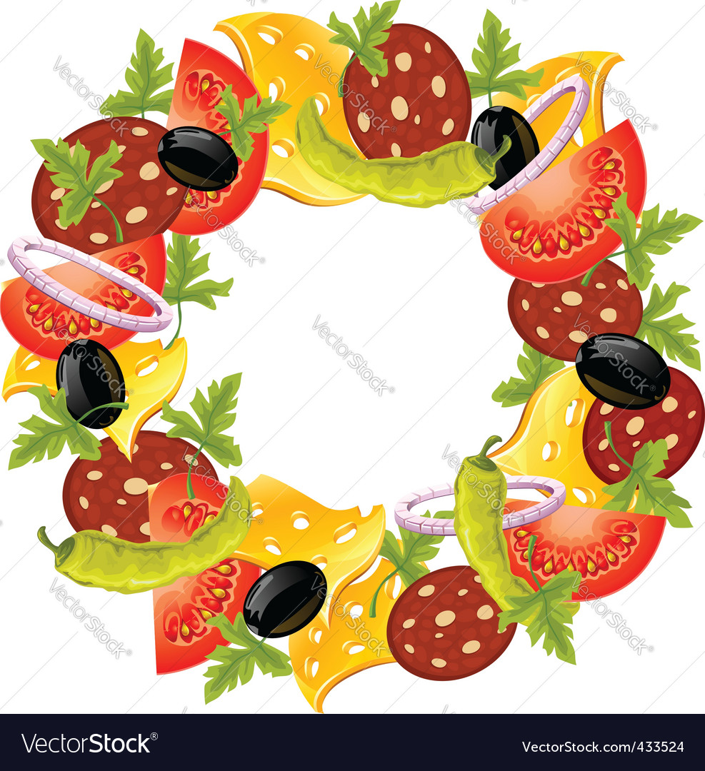 Food wreath vector | Price: 3 Credit (USD $3)