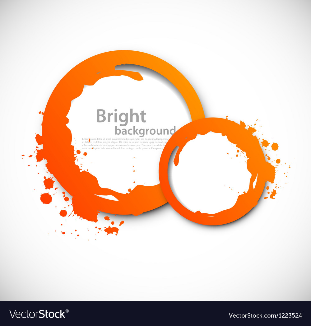 Grunge orange circles vector | Price: 1 Credit (USD $1)