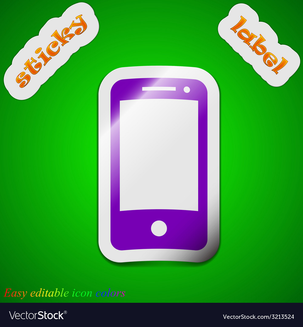 Mobile devices icon sign symbol chic colored vector | Price: 1 Credit (USD $1)