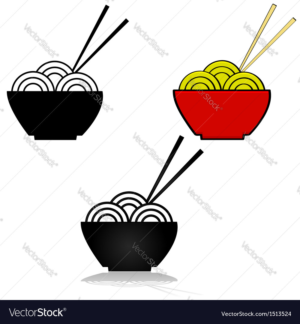 Noodles vector | Price: 1 Credit (USD $1)