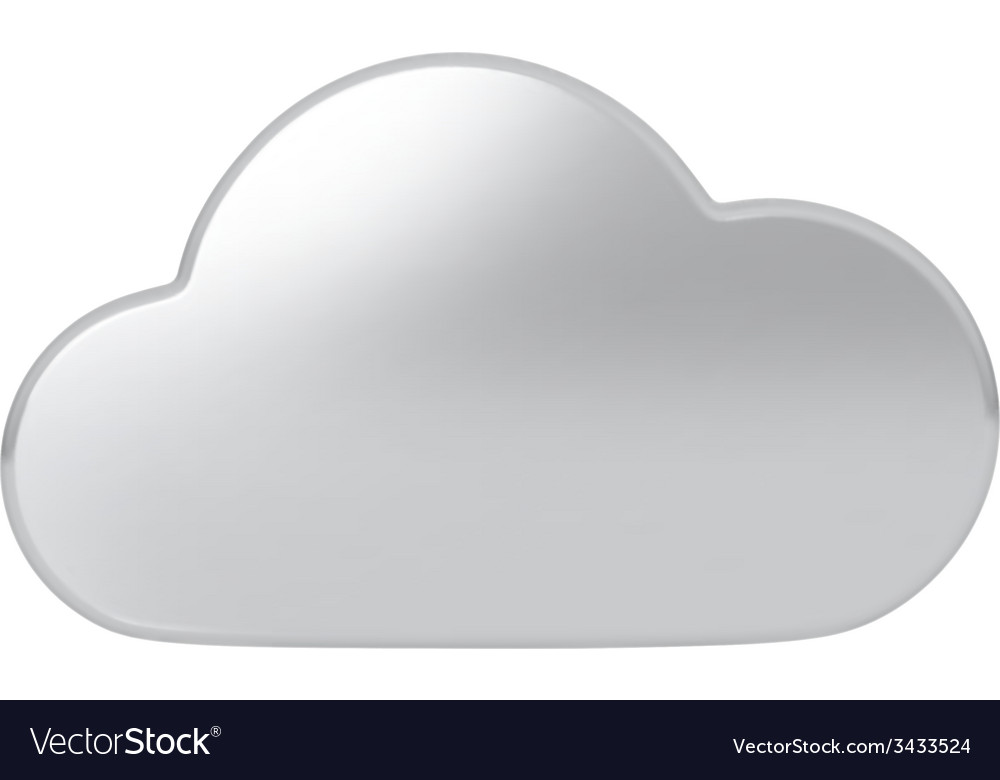Silver cloud vector | Price: 1 Credit (USD $1)