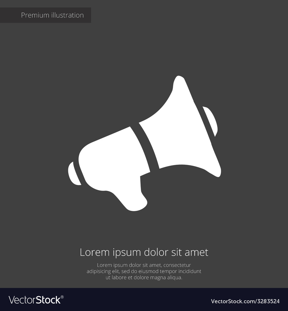 Speaker premium icon white on dark background vector | Price: 1 Credit (USD $1)
