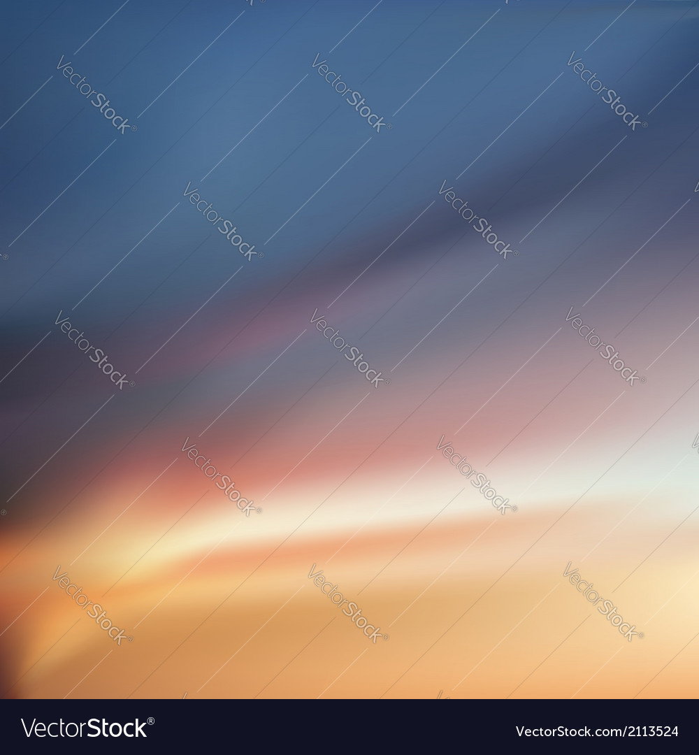 Sunset dawn sky with colorful clouds vector