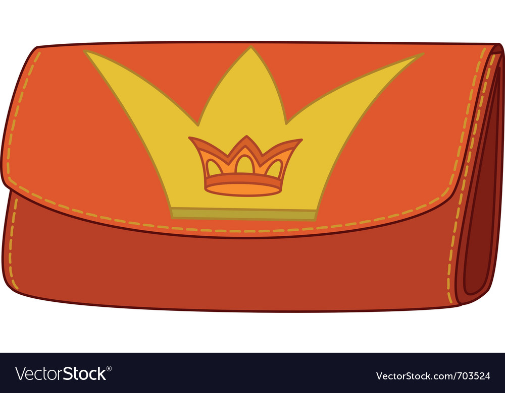 Wallet with crown emblem vector | Price: 1 Credit (USD $1)