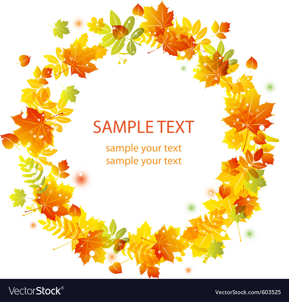 Autumn leaves vector | Price: 3 Credit (USD $3)