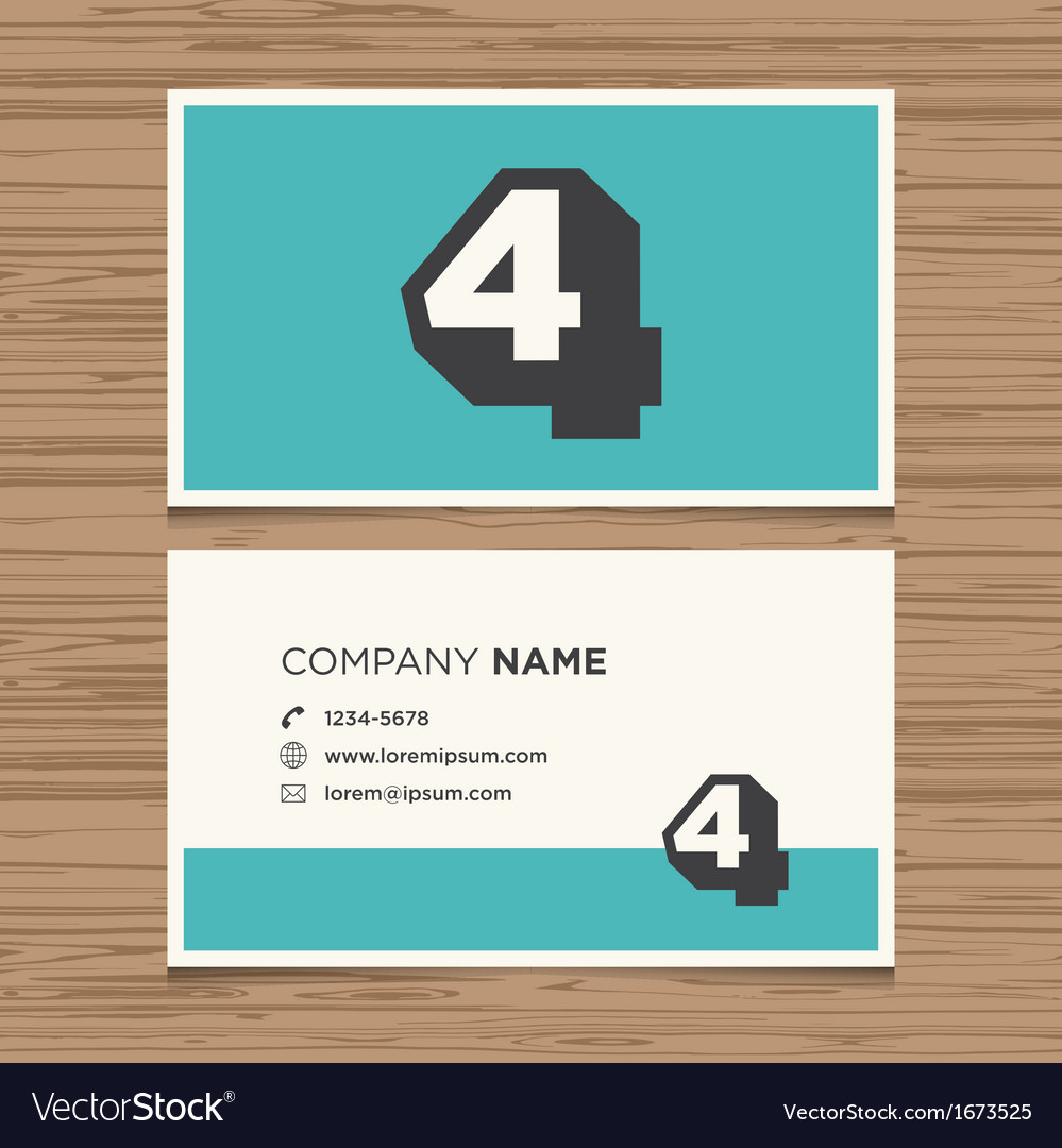 Business card number 4 vector   Price: 1 Credit (USD $1)
