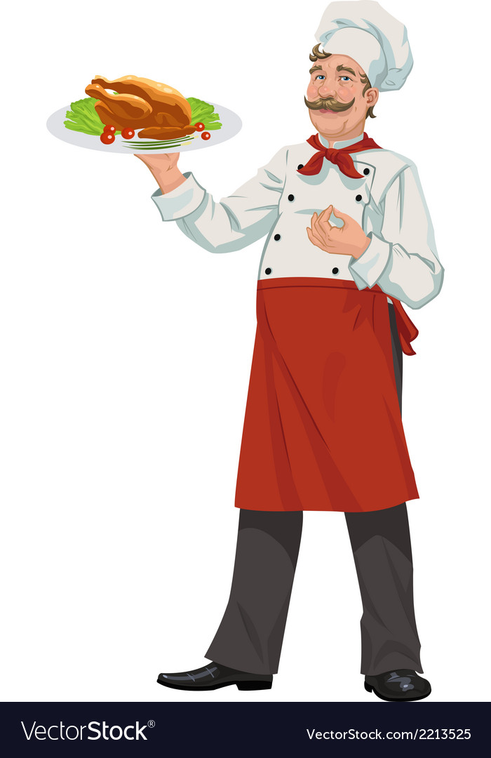 Cheerful chef - vector | Price: 1 Credit (USD $1)