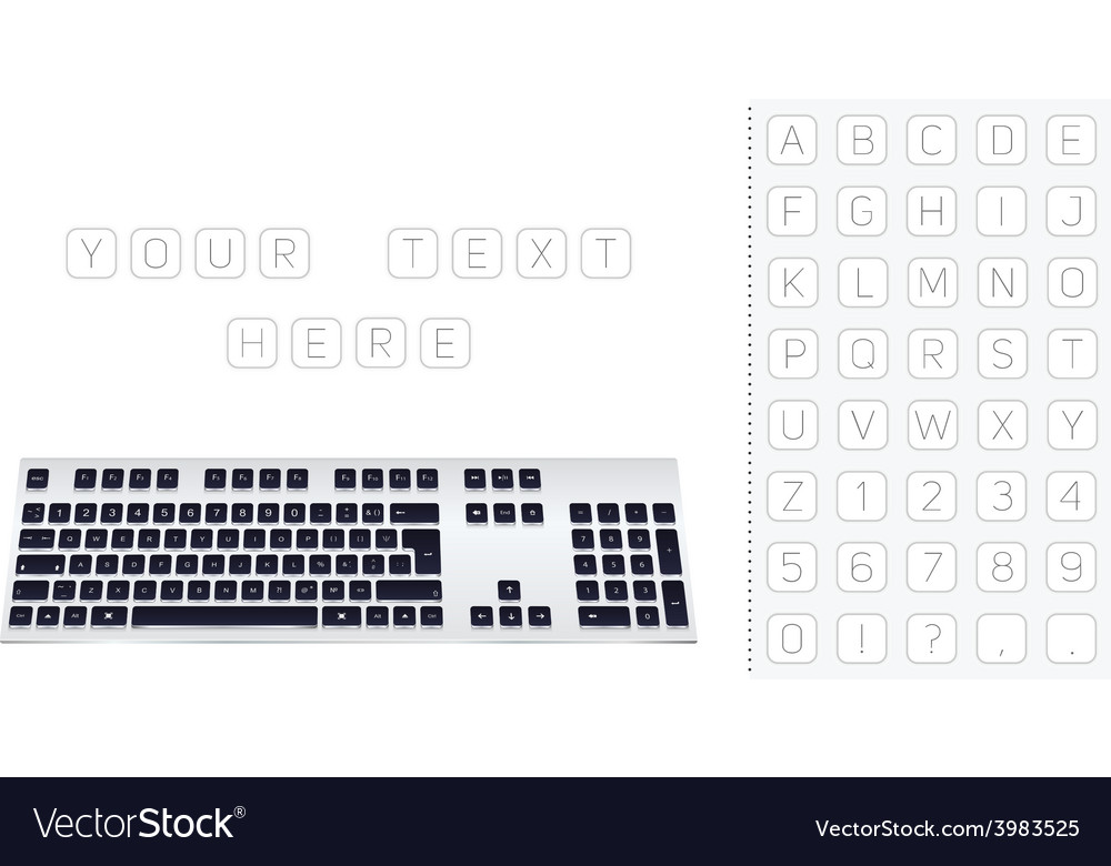 Design background computer keyboard vector | Price: 1 Credit (USD $1)