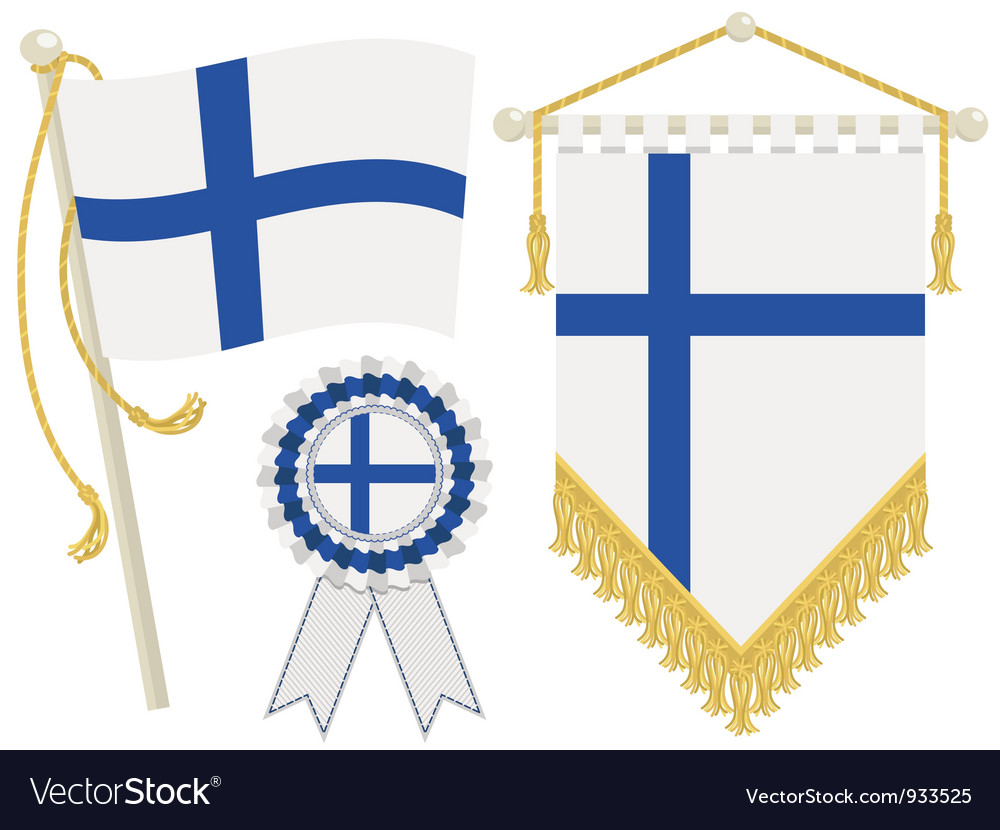 Finland flags vector | Price: 1 Credit (USD $1)