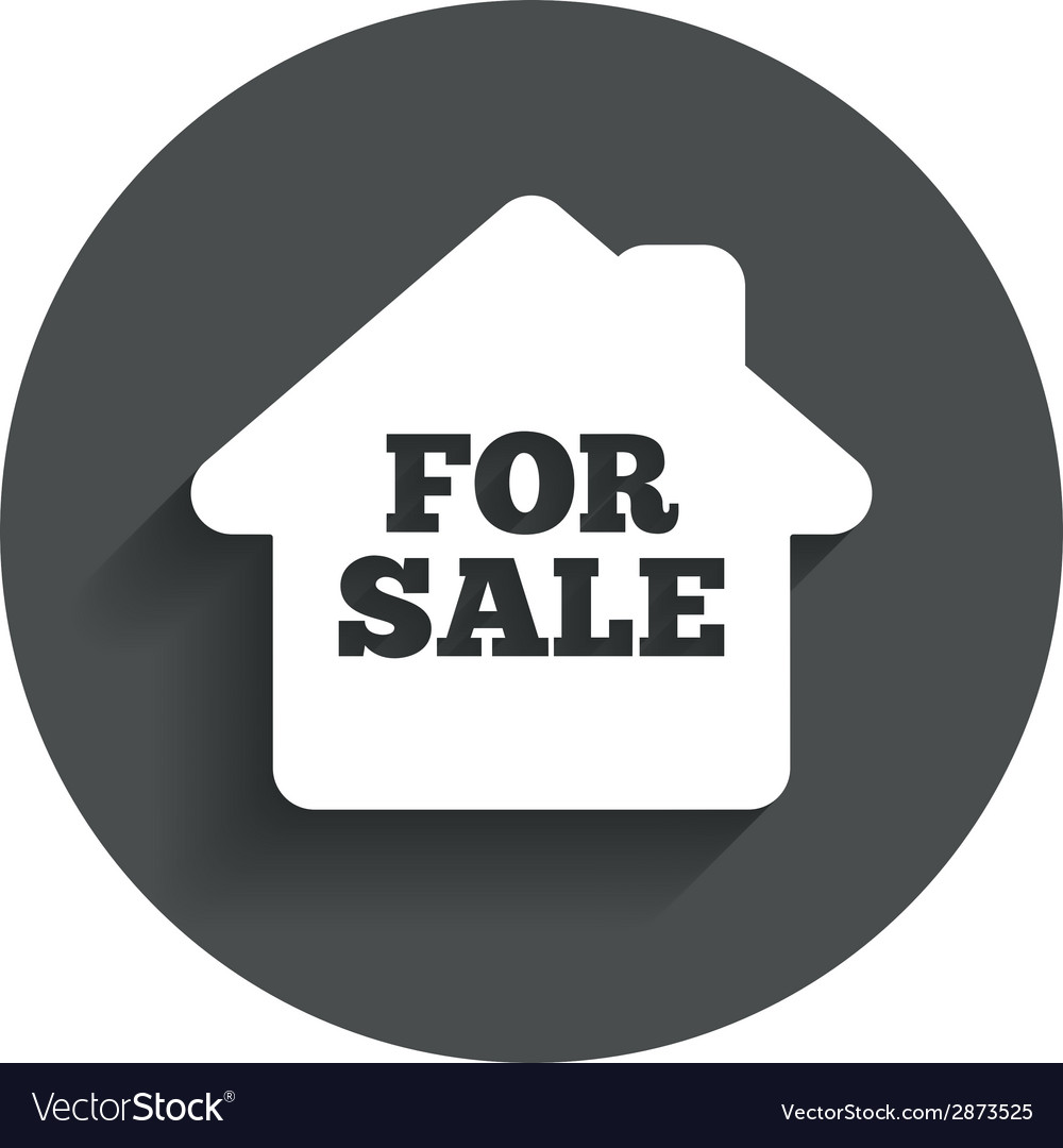 For sale sign icon real estate selling vector | Price: 1 Credit (USD $1)
