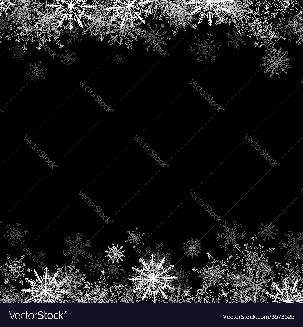 Frame with small snowflakes layered vector | Price: 1 Credit (USD $1)