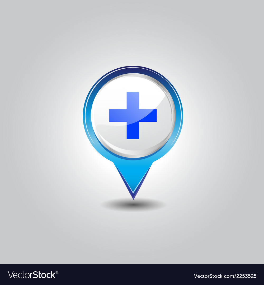Hospital pins vector | Price: 1 Credit (USD $1)
