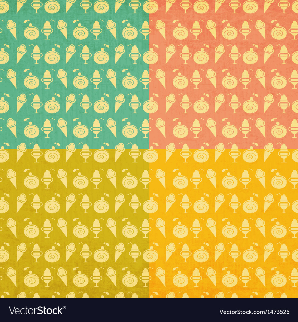Ice cream vintage seamless vector | Price: 1 Credit (USD $1)