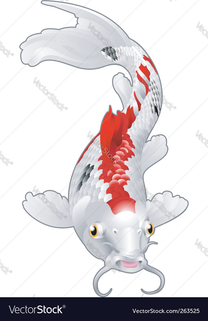 Koi carp emblem vector | Price: 1 Credit (USD $1)