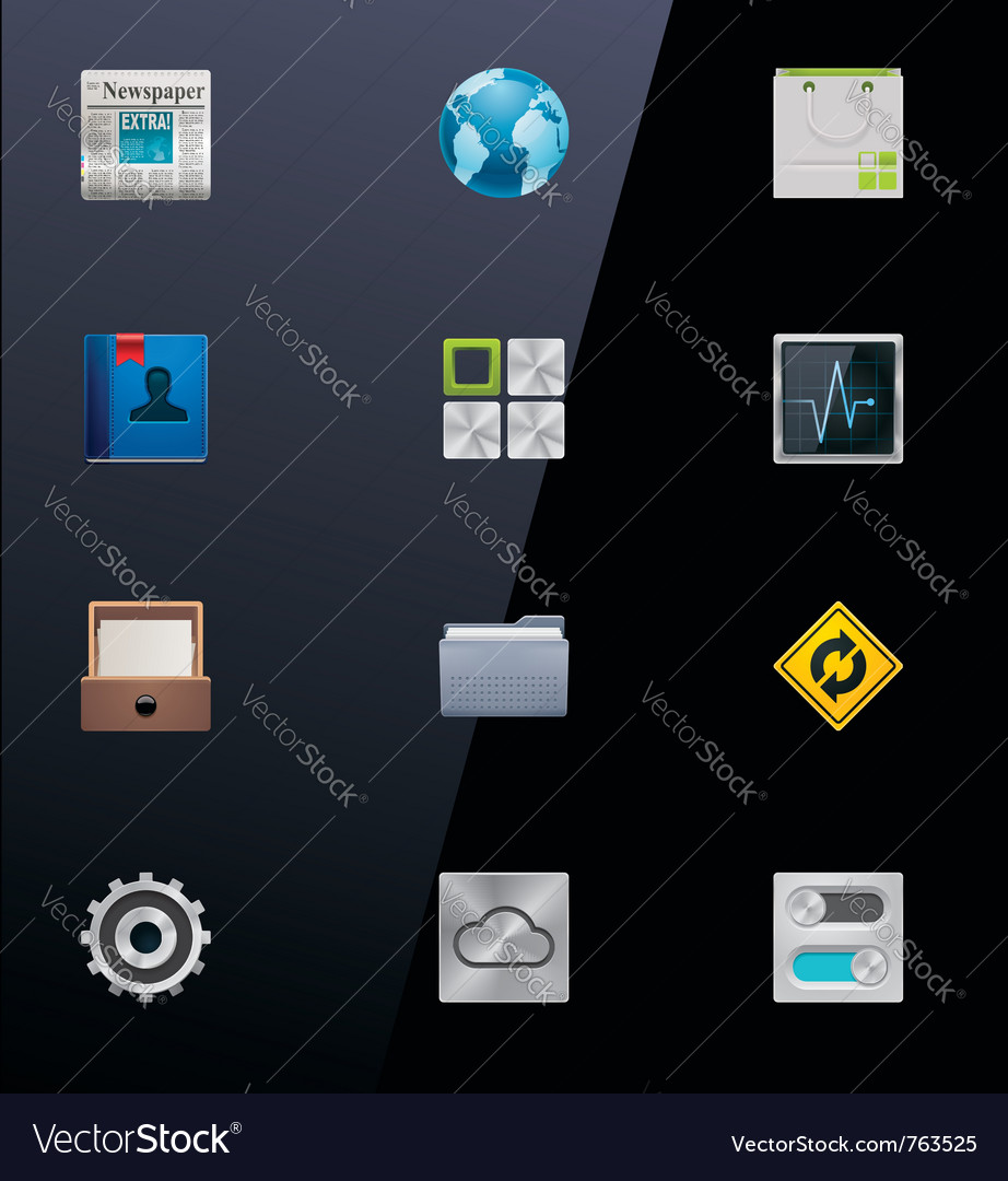 Mobile devices icons part vector | Price: 3 Credit (USD $3)