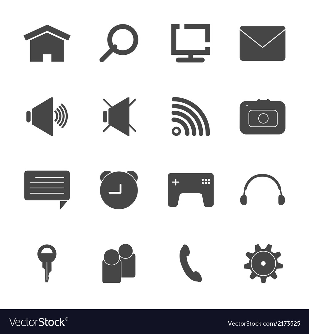 Mobile icon set eps10 vector | Price: 1 Credit (USD $1)