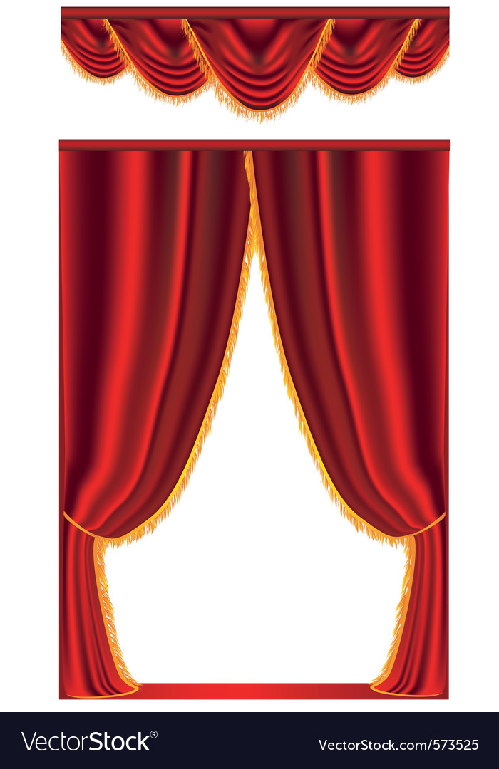 Red stage curtain vector | Price: 1 Credit (USD $1)
