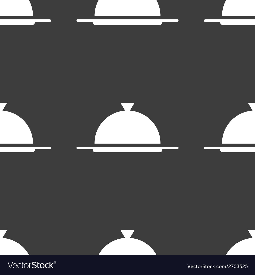 Restaurant cloche web icon flat design seamless vector | Price: 1 Credit (USD $1)