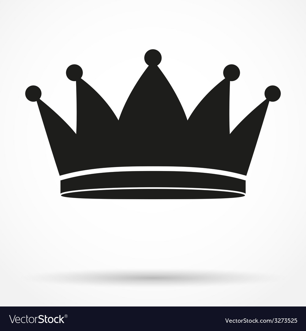 Silhouette simple symbol of classic royal king vector | Price: 1 Credit (USD $1)