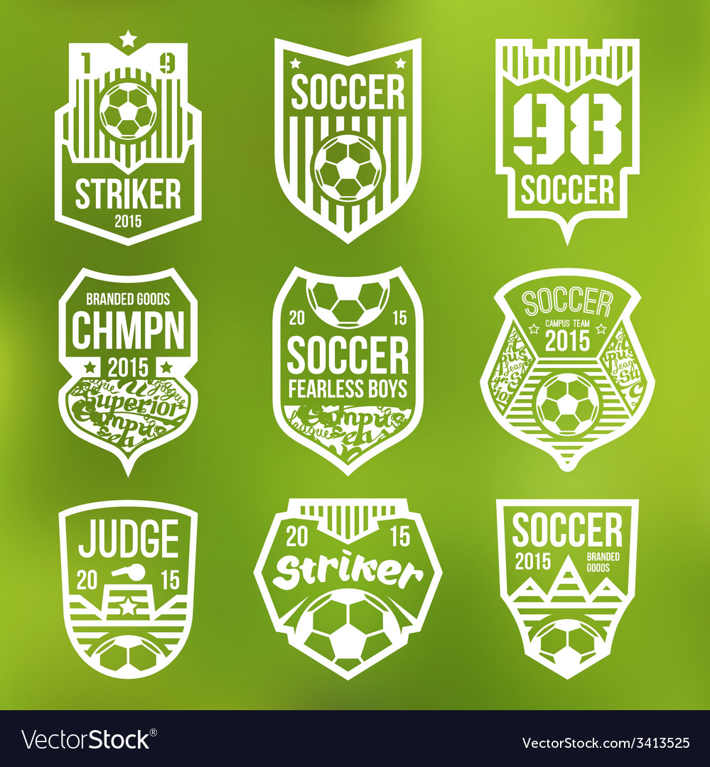 Soccer emblems vector | Price: 1 Credit (USD $1)