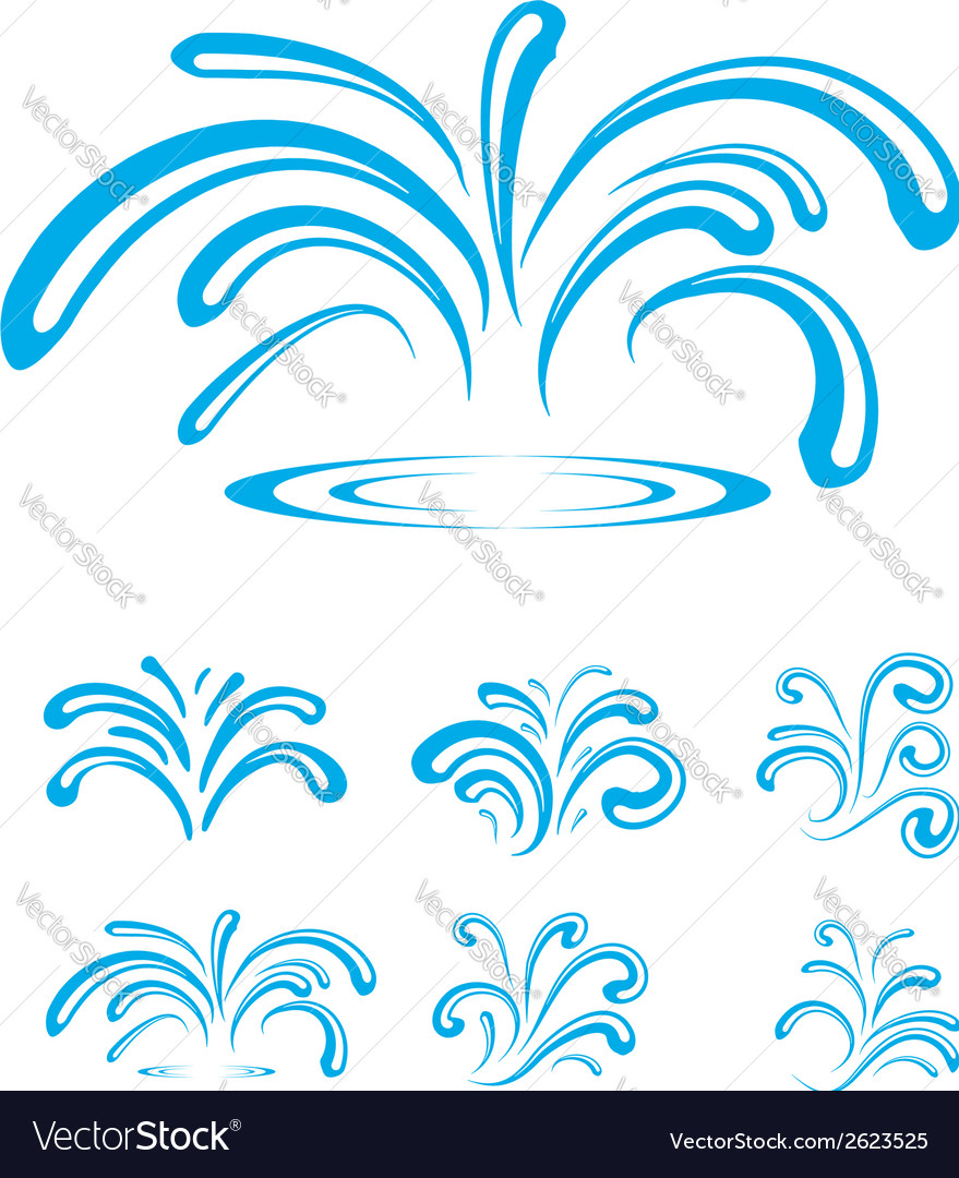 Splash of sparkling blue water drops vector | Price: 1 Credit (USD $1)