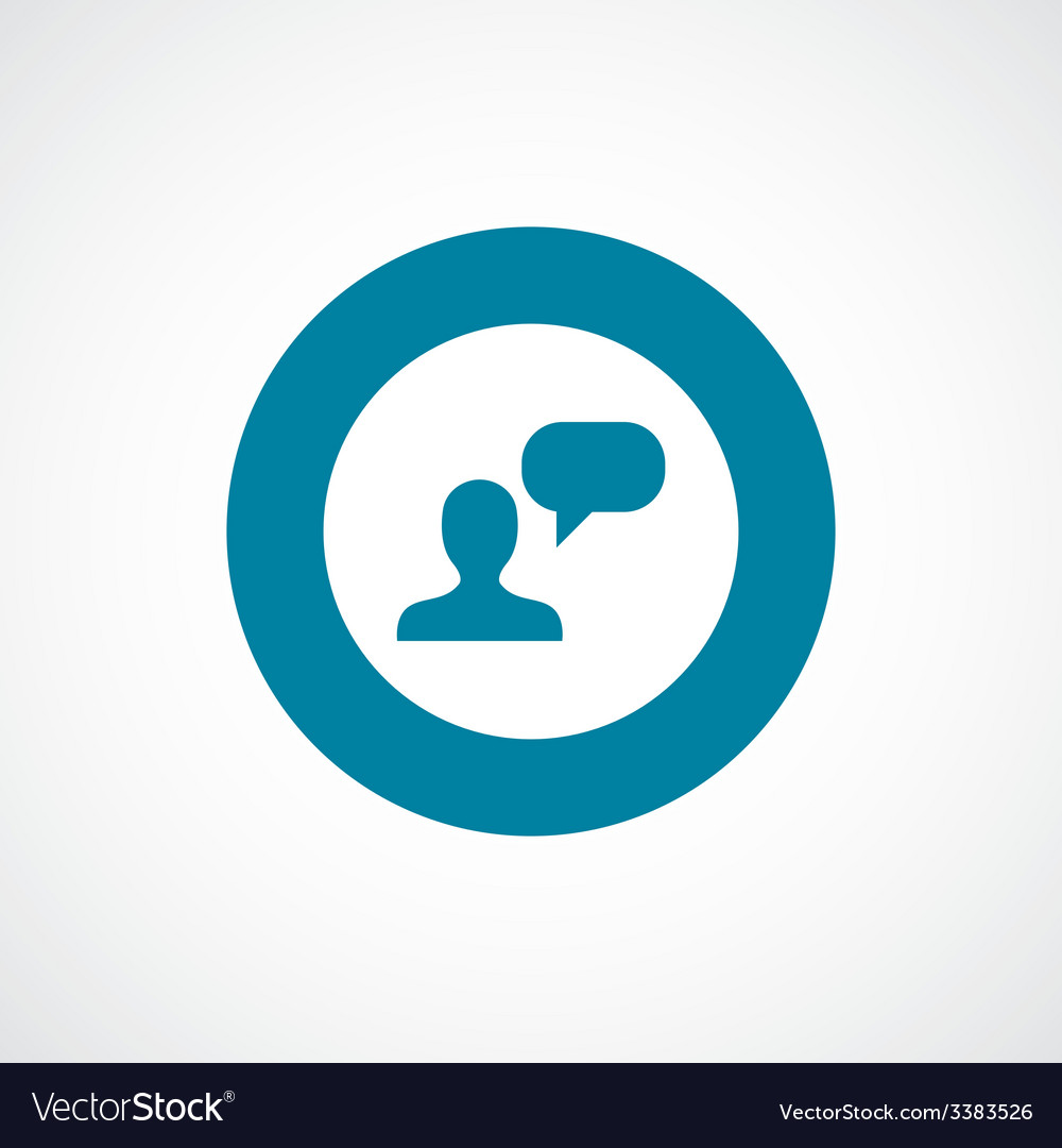 Conversation bold blue border circle icon vector   Price: 1 Credit (USD $1)
