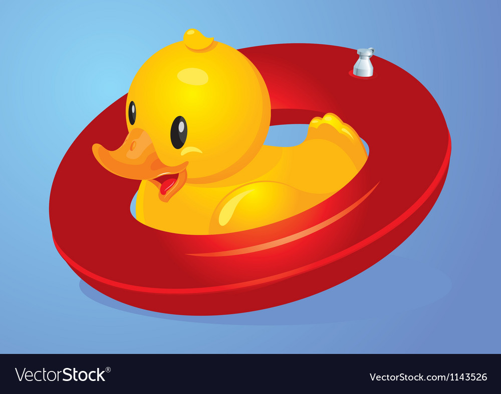Duck inflatable circle vector | Price: 1 Credit (USD $1)
