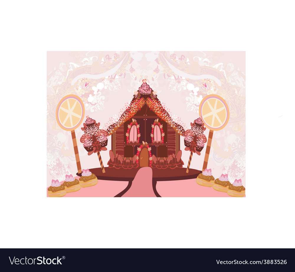 Gingerbread house vector | Price: 1 Credit (USD $1)