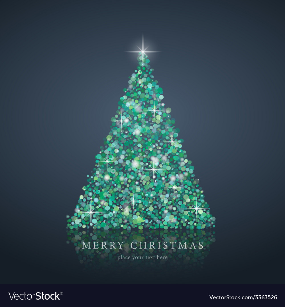 Merry christmas tree from light background vector | Price: 1 Credit (USD $1)