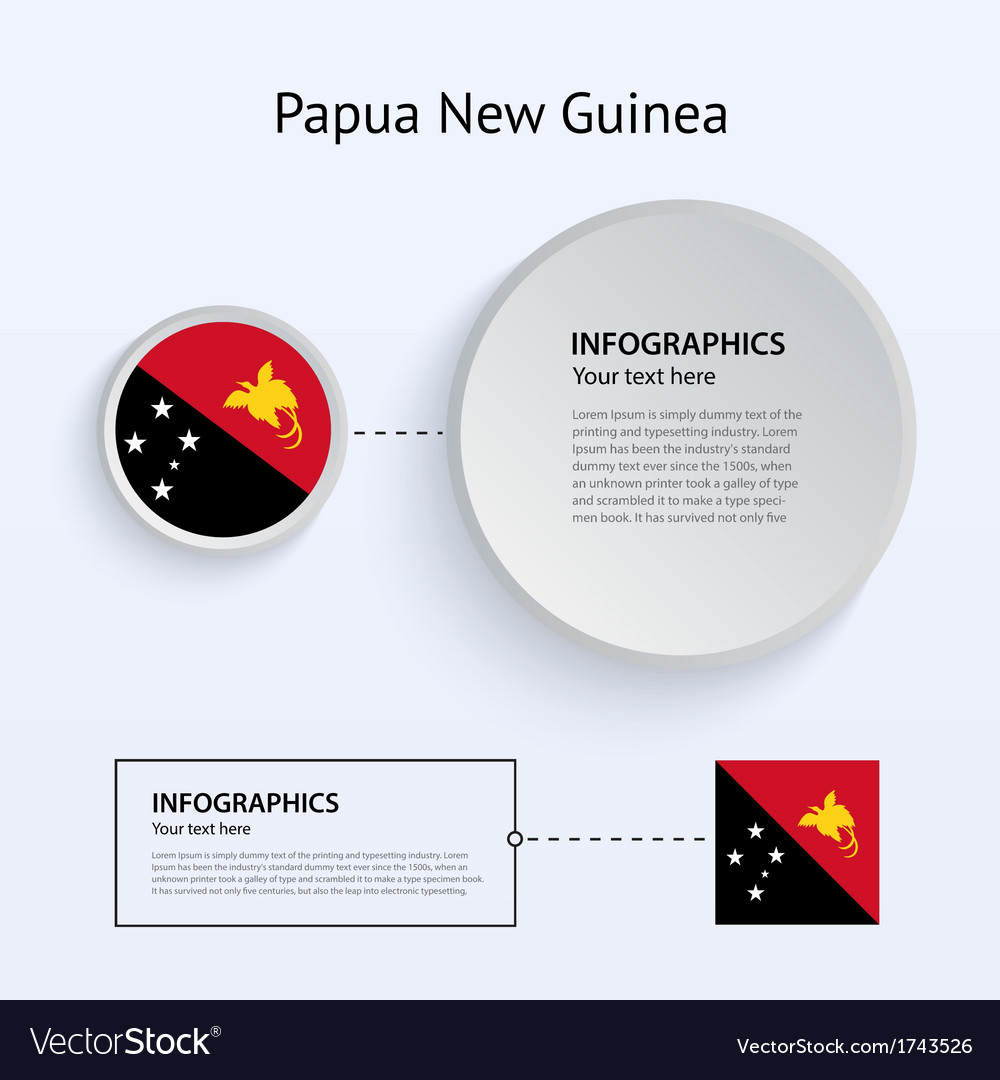Papua new guinea country set of banners vector | Price: 1 Credit (USD $1)