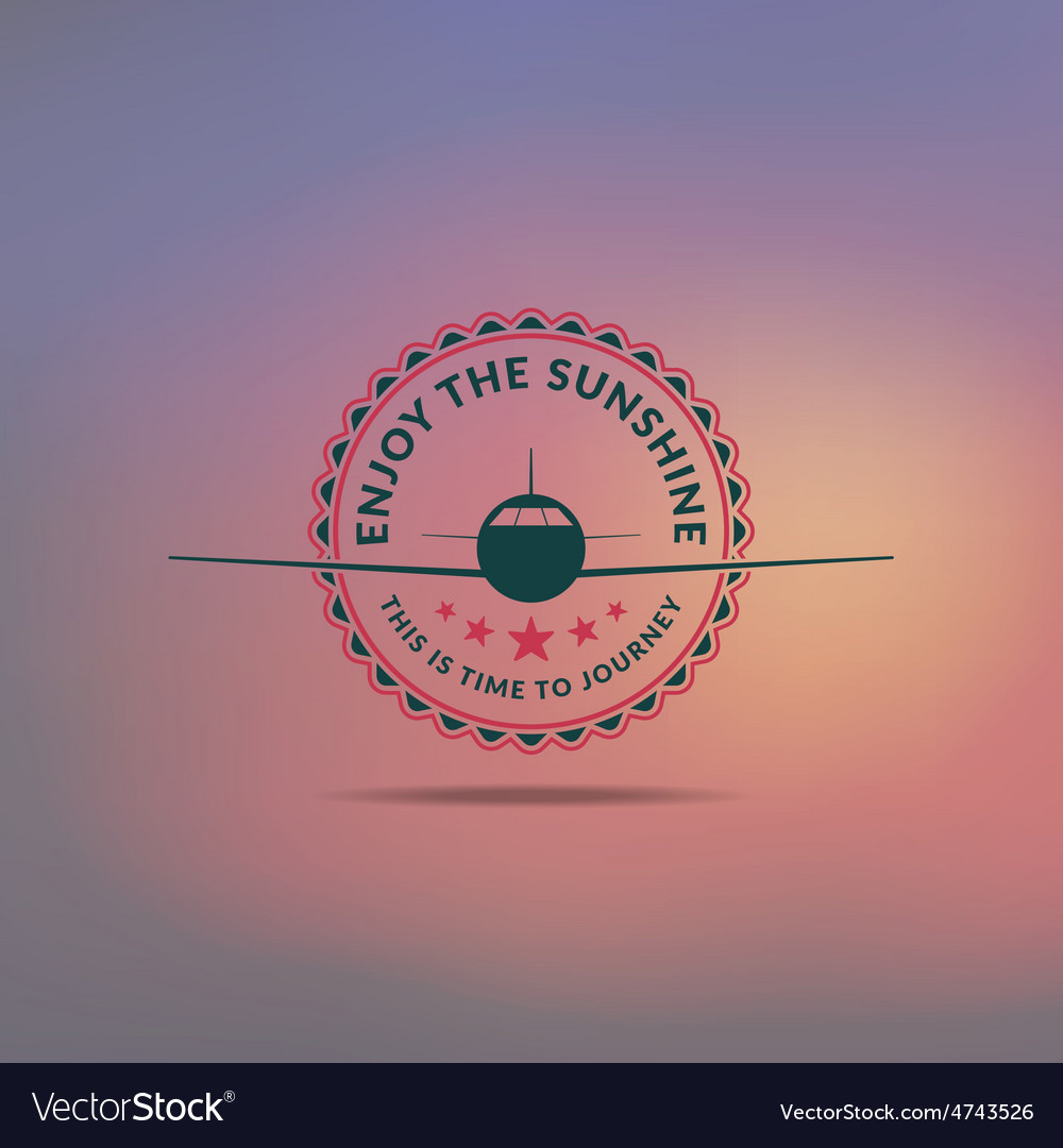 Retro summer vintage label on colorful background vector   Price: 1 Credit (USD $1)