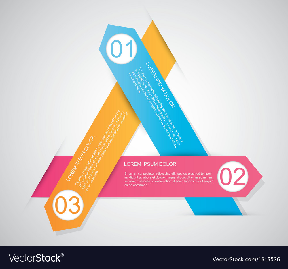Triangle infographic vector | Price: 1 Credit (USD $1)