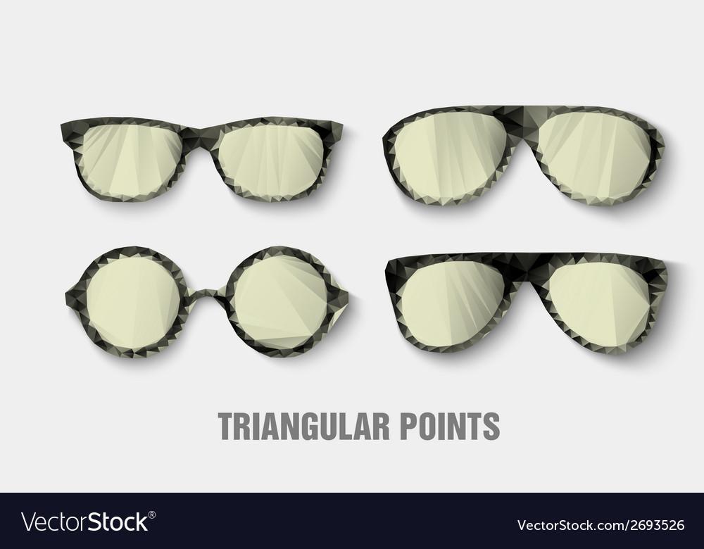Triangular sunglasses vector | Price: 1 Credit (USD $1)